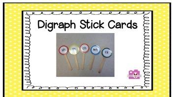 Digraph Stick Cards