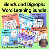Blends and Digraphs Bundle of Learning Tools - Color, BW,