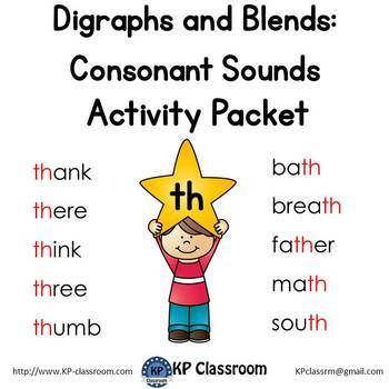 Digraph TH Consonant Sound Activity Packet and Worksheets