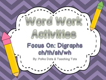 Digraph Word Work Hands-On and Print and Go