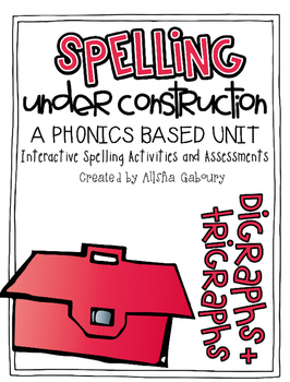 Digraph and Trigraph Word Work: Spelling Under Construction