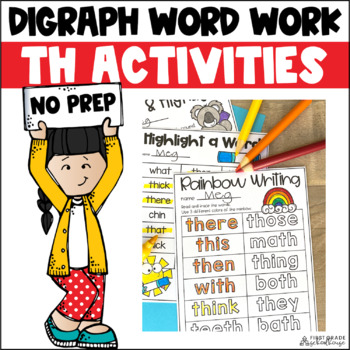 Digraphs TH Word Work