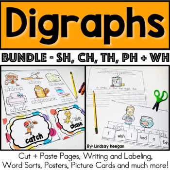 Digraphs Bundle - Beginning and Ending Sounds for CH, SH,