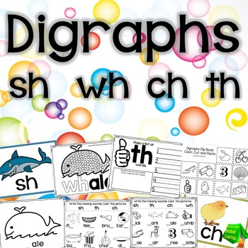 Digraph Printables for SH, WH, CH, TH