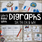 Digraphs Word Work th, sh, ch, and wh Word Building Centers