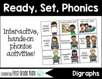 Beginning & Ending Digraphs Interactive Activities (First