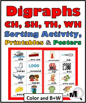 Digraph Sort, Digraph Worksheets, Posters, Activities - Di