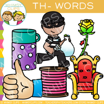 Digraphs Clip Art: Beginning Th Words