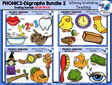 Digraphs Endings Bundle Clip Art - Whimsy Workshop Teaching