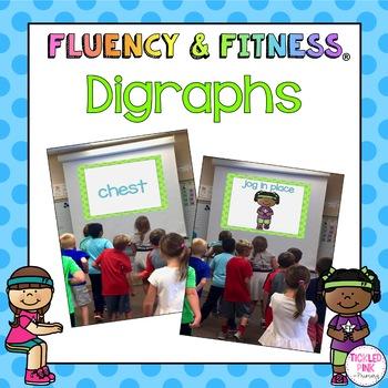 Digraphs Fluency & Fitness Brain Breaks Bundle