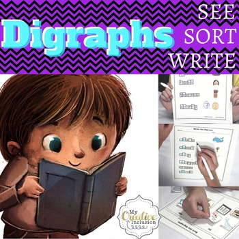 Digraphs Leveled Printables- TH, PH, WH, CH, SH for Specia