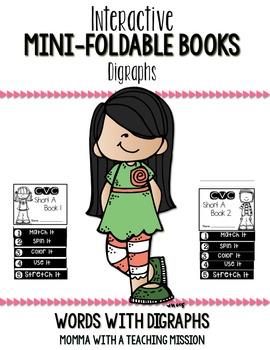 Digraphs Mini Flip Book Foldable
