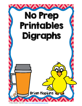 Digraphs No Prep Printables