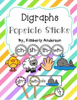 Digraphs Popsicle Stick and Activity Sheet ( ch- / sh- / t