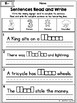 Digraphs: Read and Write Sentences No Prep Packet