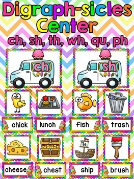 Digraph-sicles! Digraphs Ice Cream Themed Center