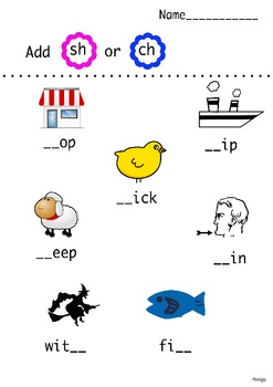 Digraphs Sh and Ch