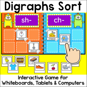 Digraphs Sorting Game for Whiteboards and Computers - Begi