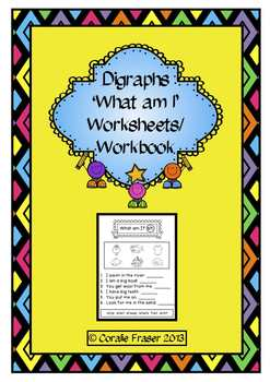 Digraphs 'What am I' Worksheets/Workbook