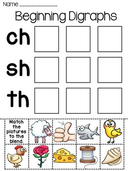 Digraphs Word Sorts Worksheets