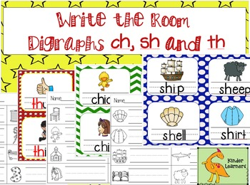 Digraphs Write the Room (Ch, Sh, and Th)