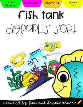 Digraphs ch, sh, th, wh Fish Tank Sorts