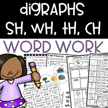 Digraphs sh, ch, th, wh Phonics Suitcase: 8 Print & Go RTI