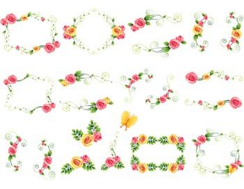 Digtal Floral Frame Clip Art Flower Frames Digital Rose Fr