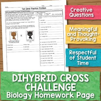 Dihybrid Cross Challenge Problem Biology Homework Worksheet