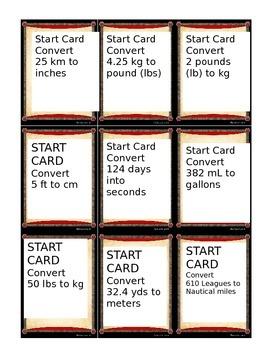 Dimensional Analysis Sort Cards