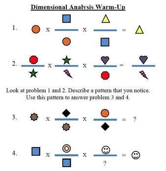 Dimensional Analysis Warm-Up