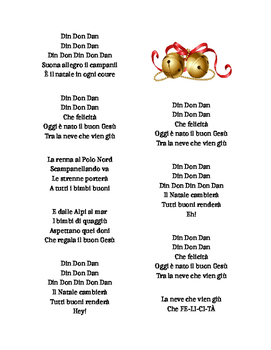 Din Don Dan Jingle Bells in Italian Italiano - Christmas A