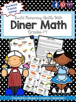 Diner Math - Real World Math Task (Adding with Decimals)