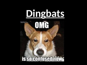 Dingbats - English quiz