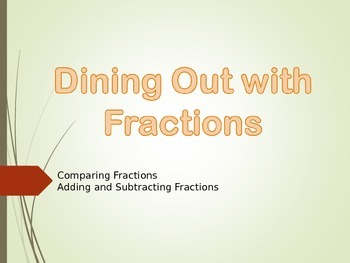 Dining Out with Fractions- Comparing, Adding and Subtracti