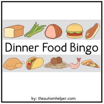 Dinner Food Bingo