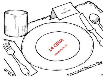 Dinner Vocabulary Realidades 1 Chapter 3B