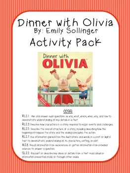 Dinner with Olivia Activity Pack (by: Emily Sollinger)