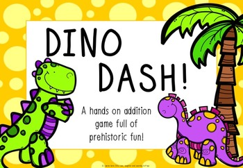 Dino Dash! A hands-on addition game full of prehistoric fun