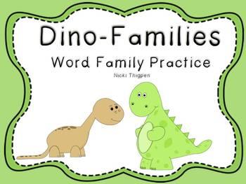 Dino-Families (Word Family Practice)