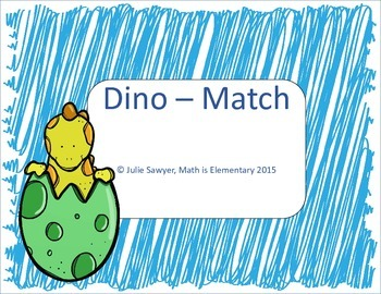 Dino-Match CCSS and MAFS