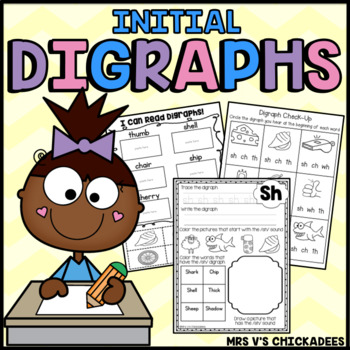 Digraphs { Sh, Ch, Wh, Th } Printables, Centers, Classwork