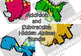 Dinosaur (PACK of 4) - Mystery Picture - Addition and Subtraction
