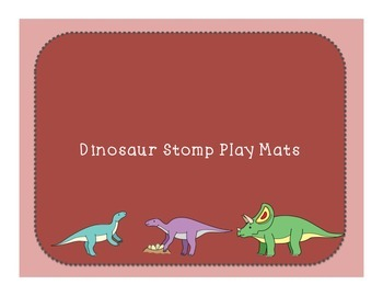 Dino Stomp Play Mat