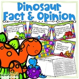Dinosaur Fact and Opinion Task Cards and Activities Pack QR Codes
