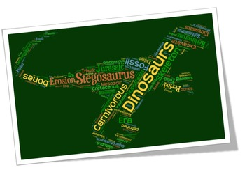 Dinosaur Vocabulary Image for Poster or Bulletin Board