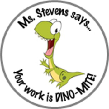 Dinosaur Achievement Stickers Personalized For Your Class