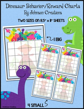 Dinosaur Behavior and Reward Charts