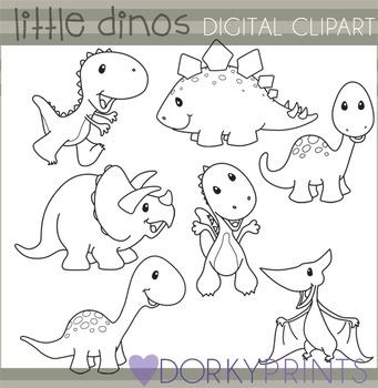 Dinosaur Black Line Clip Art
