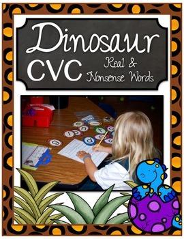 Dinosaur CVC Eggs ~ Real and Nonsense Words Center